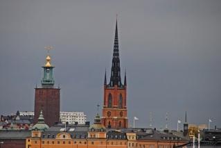 Stadshuset och Riddarholmskyrkan