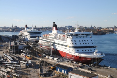Vy över Vikingterminalen. Gabriella åker jag med i maj, ska bli trevligt.