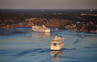 Tänk på sommaren när 6-8 fartyg kan ligga på rad.