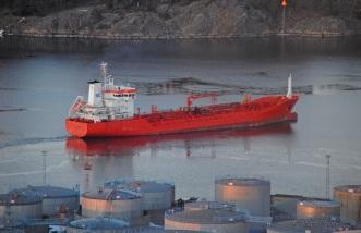Tankfartyget lämnade Loudden.