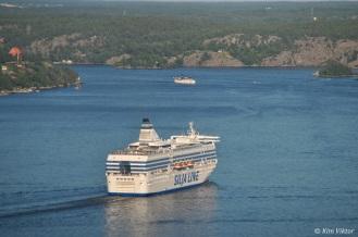 Silja Serenade och Stockholm